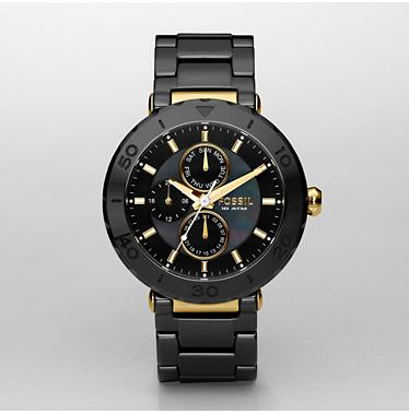 Fossil CE1005 Black Multifunction Ceramic Dial