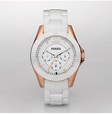 Fossil CE1006 White Multifunction Ceramic Dial