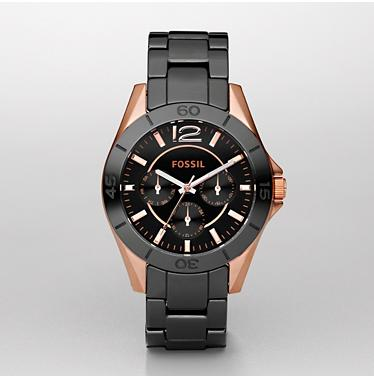 Fossil CE1007 Black Multifunction Ceramic Dial