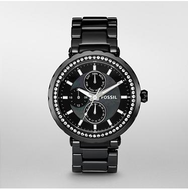 Fossil CE1009, Black Ceramic Multifunction