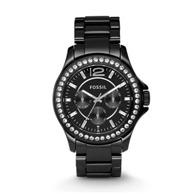 Fossil CE1011, Black Ceramic Multifunction