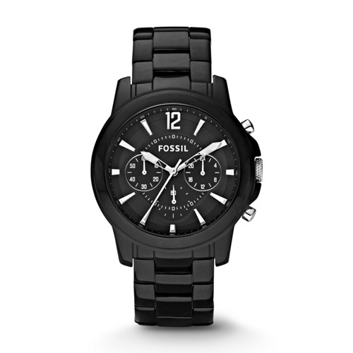 Fossil Grant Chronograph Ceramic Watch - Black - CE5008