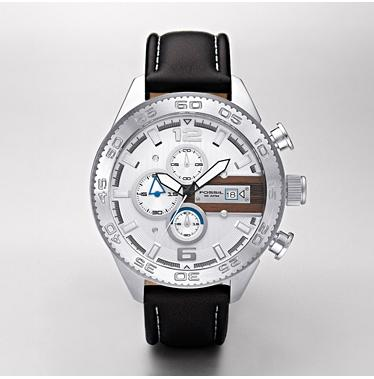 Fossil CH2558 Chronograph White Dial