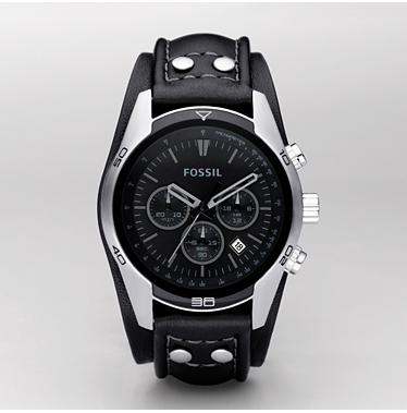 Fossil CH2586 Chronograph Black Dial