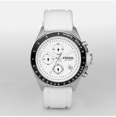 Fossil CH2587 Chronograph White Dial