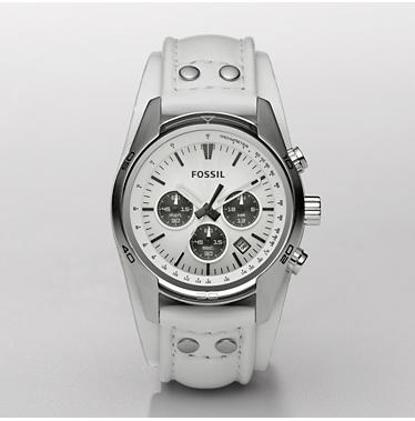 Fossil CH2592, Chronograph White Degrade Dial