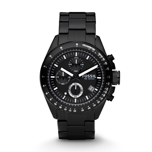 Fossil Decker Chronograph Black Stainless Steel Watch Ch2601