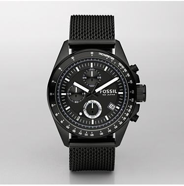 Fossil CH2609 Chronograph Black Dial