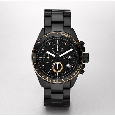 Fossil CH2619 Chronograph Black Dial
