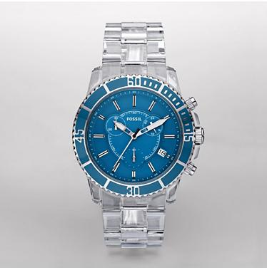 Fossil CH2625, Chronograph Blue Dial