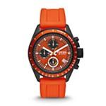 Decker Chronograph Silicone Watch - Orange Orange, Smart Men's Sport Watches Fossil Discount CH2877