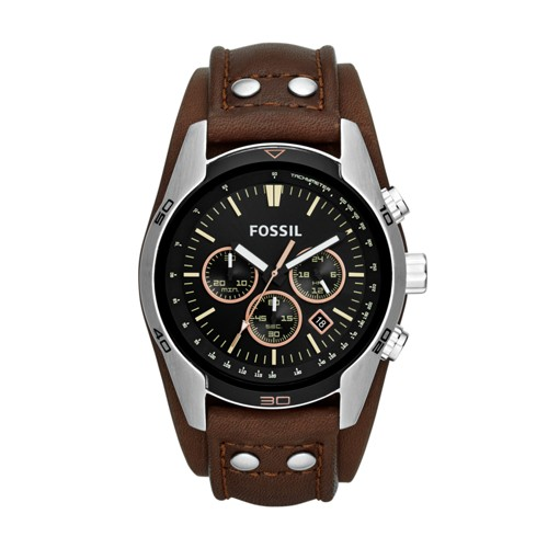 fossil Coachman Chronograph Brown Leather Watch CH2891