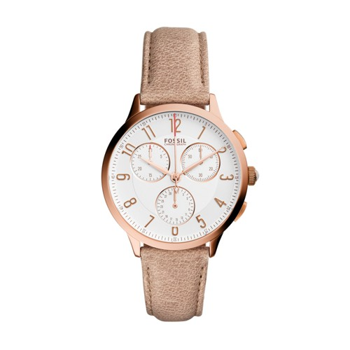 Fossil Abilene Chronograph Light Brown Leather Watch Ch3016