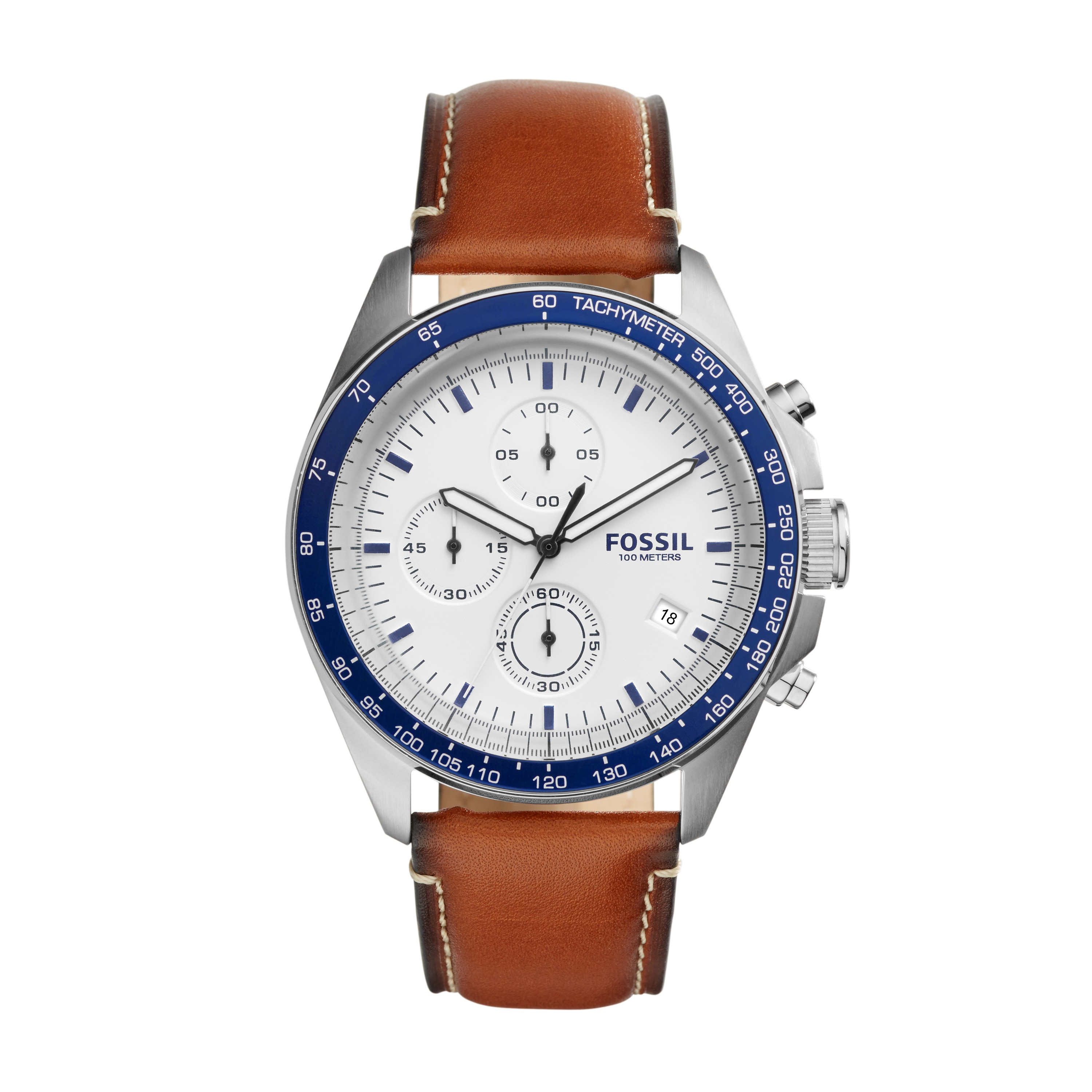 Fossil Sport 54 Chronograph Brown Leather Watch Ch3029