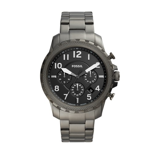 fossil Limited Edition Curator Series Chronograph Black Stainless Steel Watch CS5002