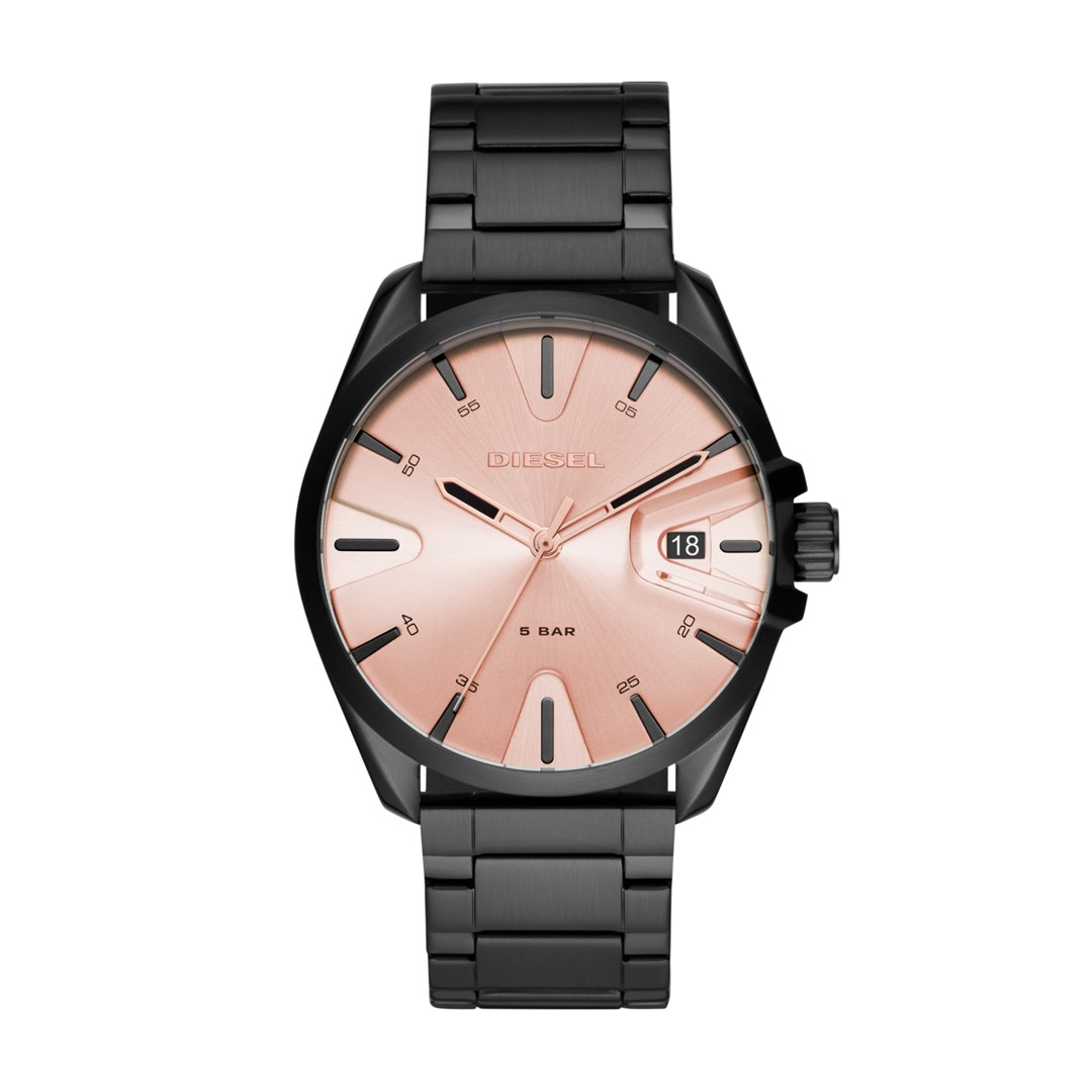 Diesel Ms9 Three-Hand Black Stainless Steel Watch Dz1904 Jewelry - DZ1904-WSI