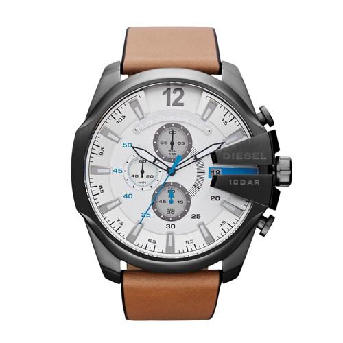 Diesel Watches Mega Chief Light Brown/Gunmetal - Diesel Watches Watches