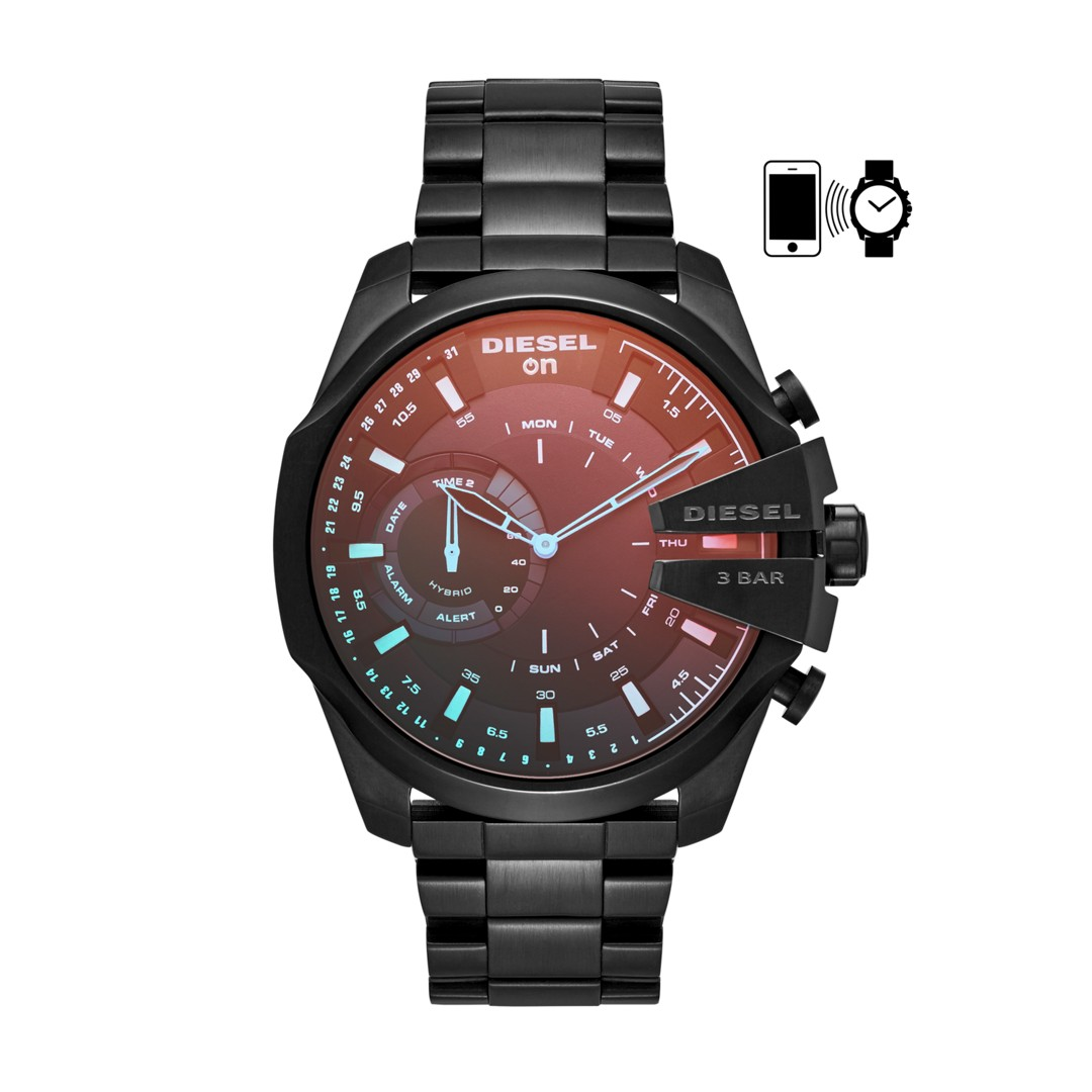 Diesel Diesel On Men&Apos;S Hybrid Smartwatch: Black Ip Dzt1011 Jewelry - DZT1011-WSI