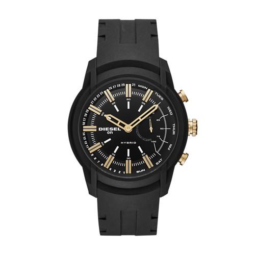 Diesel Diesel On Men&Apos;S Armbar Black Silicone Hybrid Smartwatch Dzt1014 Jewelry - DZT1014-WSI