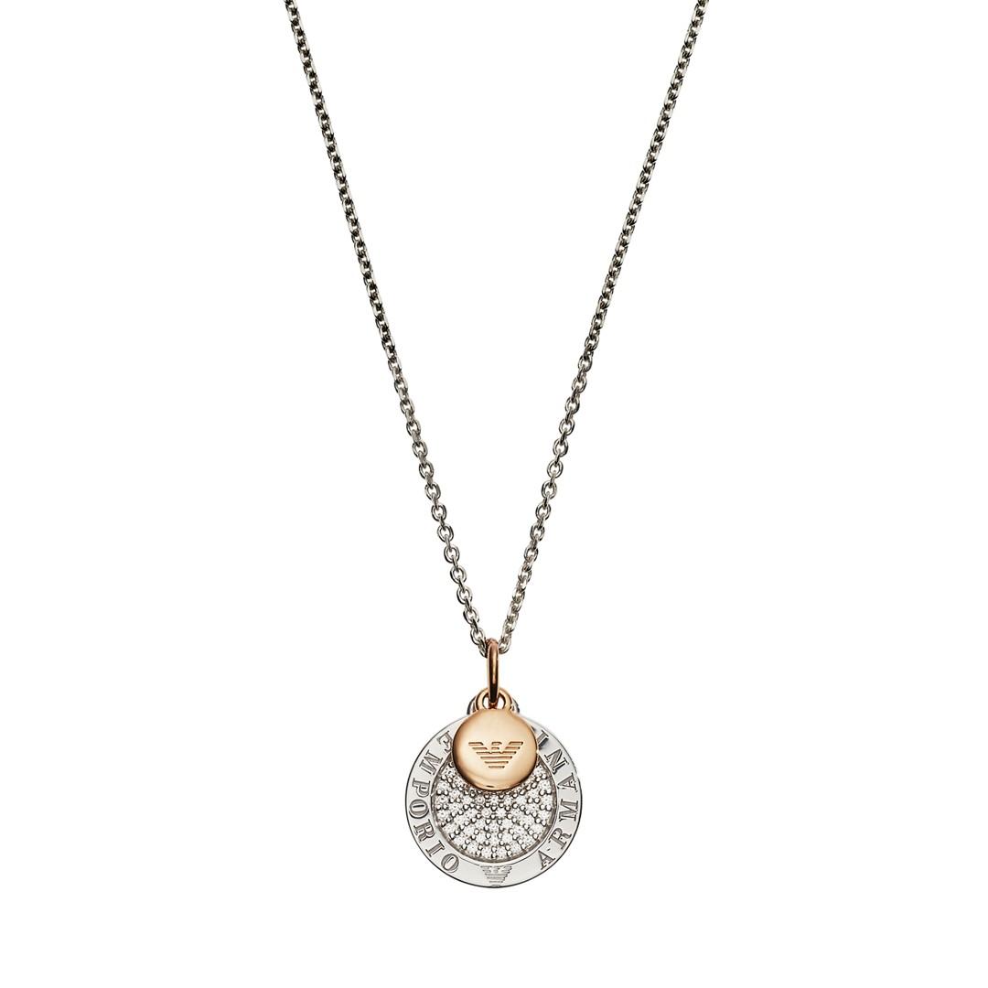 Emporio Armani Emporio Armani Women&Apos;S Two-Tone Sterling Silver Necklace Eg3374040 Jewelry - EG3374040-WSI