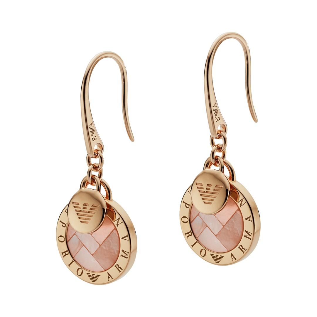 Emporio Armani Emporio Armani Women&Apos;S Rose Gold-Tone Sterling Silver Earrings Eg3376221 Jewelry - EG3376221-WSI