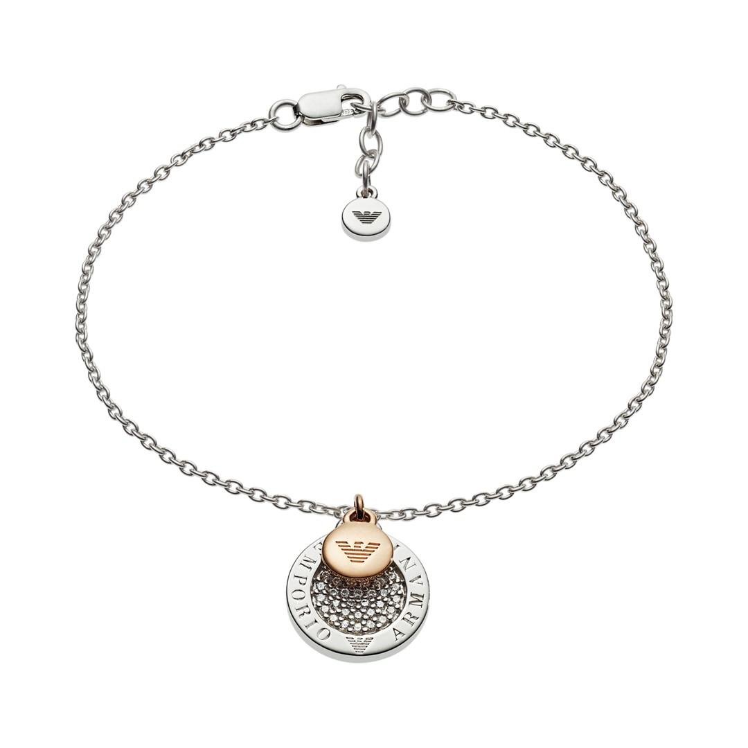 Emporio Armani Emporio Armani Women&Apos;S Two-Tone Sterling Silver Bracelet Eg3378040 Jewelry - EG3378040-WSI