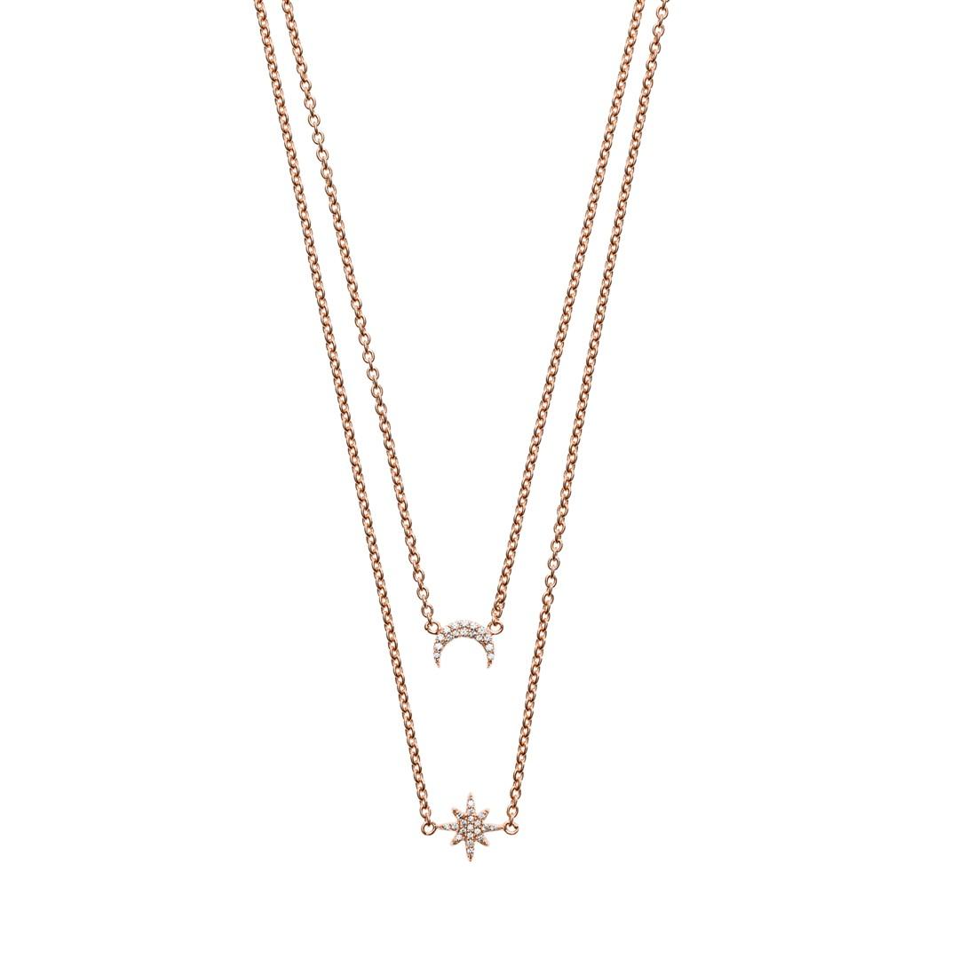Emporio Armani Emporio Armani Women&Apos;S Rose Gold-Tone Sterling Silver Multi-Strand Necklace Eg3393221 Jewelry - EG3393221-WSI