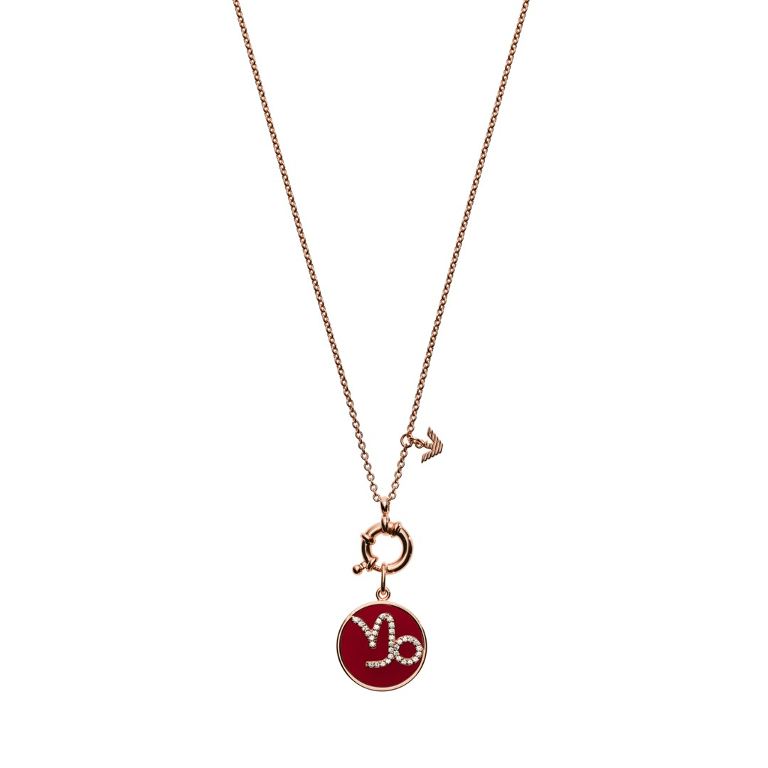 Emporio Armani Emporio Armani Women&Apos;S Capricorn Rose Gold-Tone Sterling Silver Pendant Necklace Eg3399221 Jewelry - EG3399221-WSI