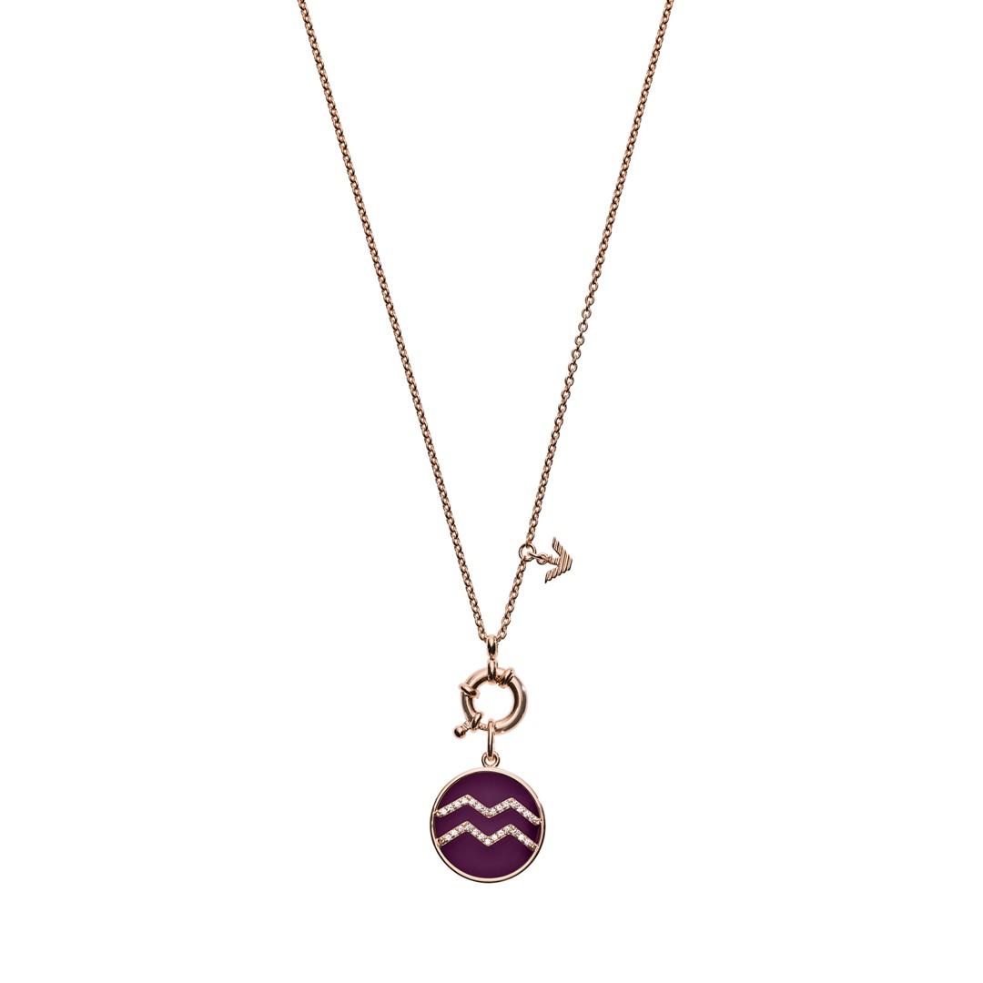 Emporio Armani Emporio Armani Women&Apos;S Aquarius Rose Gold-Tone Sterling Silver Pendant Necklace Eg3400221 Jewelry - EG3400221-WSI