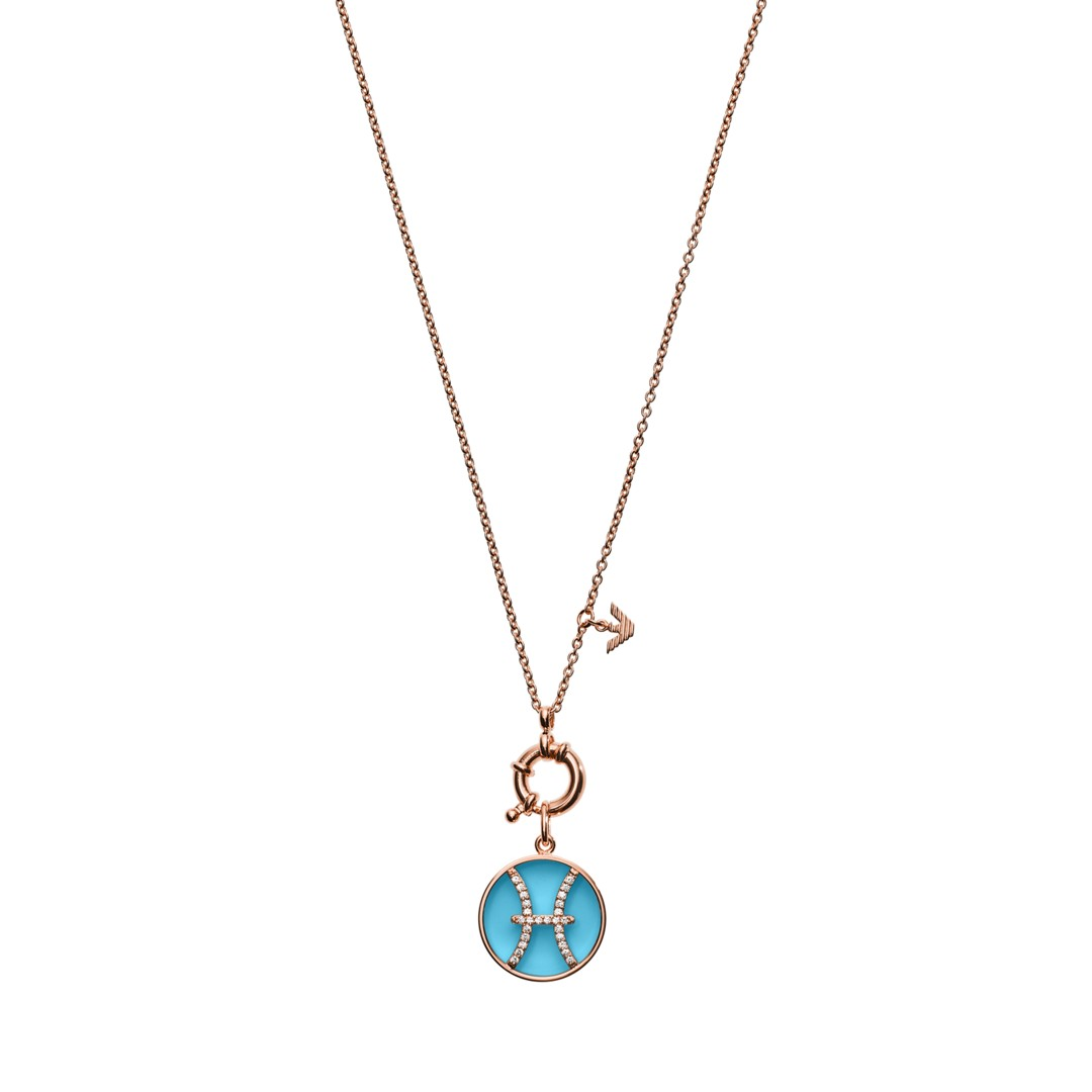 Emporio Armani Emporio Armani Women&Apos;S Pisces Rose Gold-Tonesterling Silver Pendant Necklace Eg3401221 Jewelry - EG3401221-WSI