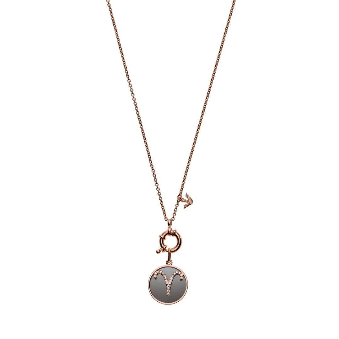 Emporio Armani Emporio Armani Women&Apos;S Aries Rose Gold-Tone Sterling Silver Pendant Necklace Eg3402221 Jewelry - EG3402221-WSI
