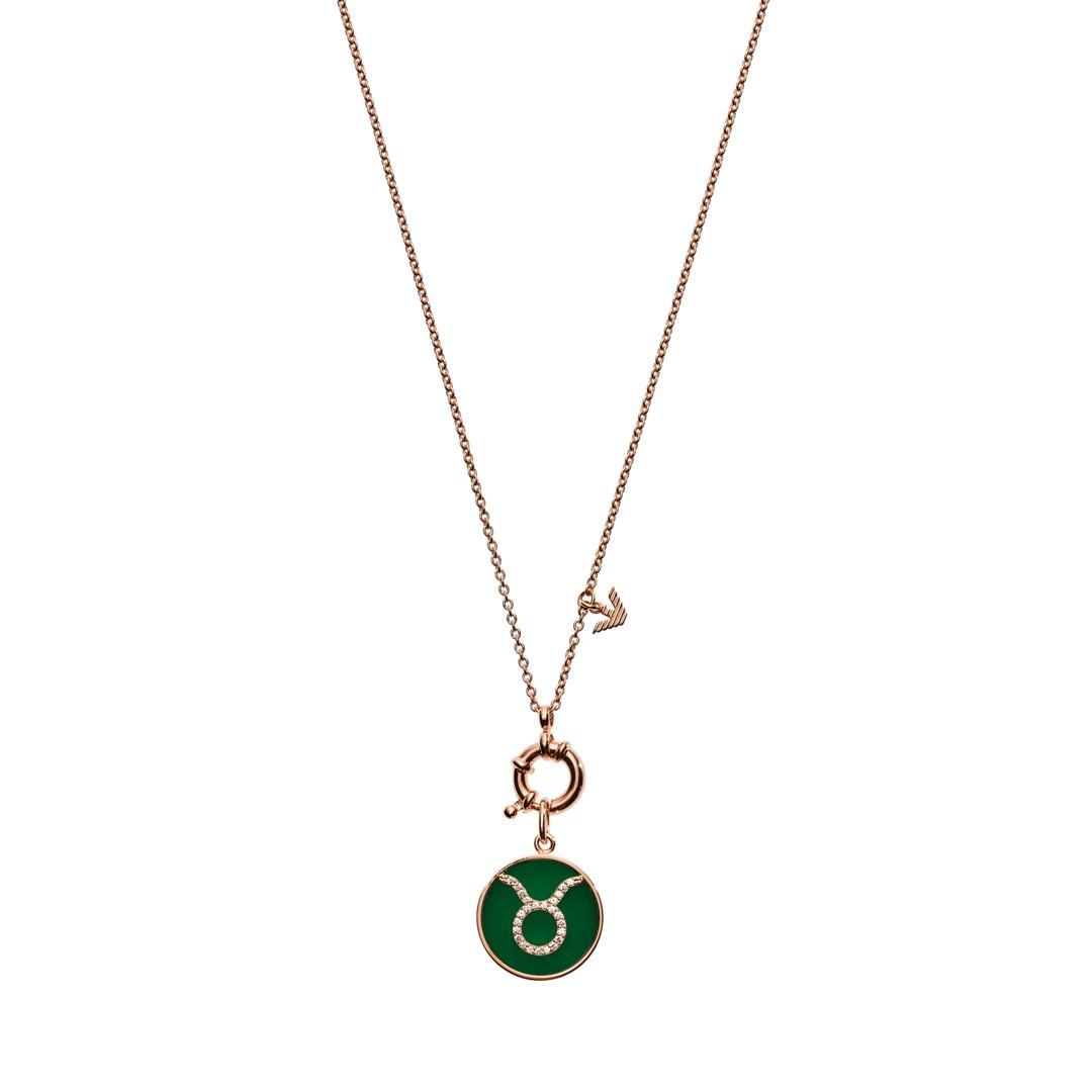 Emporio Armani Emporio Armani Women&Apos;S Taurus Rose Gold-Finished Sterling Silver Pendant Necklace Eg3403221 Jewelry - EG3403221-WSI