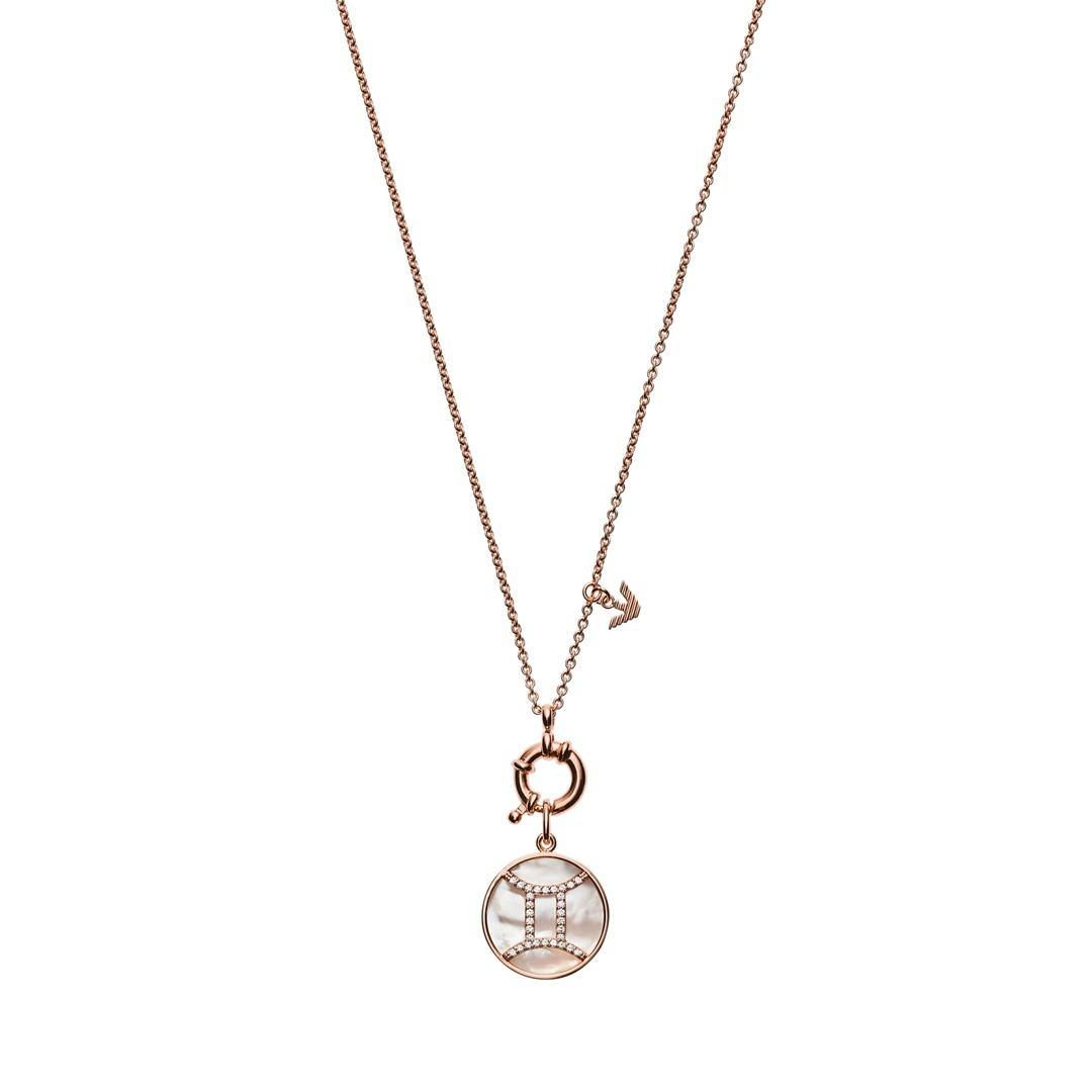 Emporio Armani Emporio Armani Women&Apos;S Gemini Rose Gold-Tone Sterling Silver Pendant Necklace Eg3404221 Jewelry - EG3404221-WSI