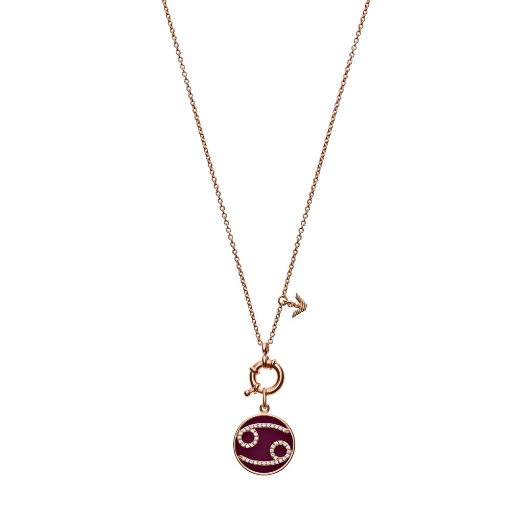 Emporio Armani Emporio Armani Women&Apos;S Cancer Rose Gold-Tone Sterling Silver Pendant Necklace Eg3405221 Jewelry - EG3405221-WSI