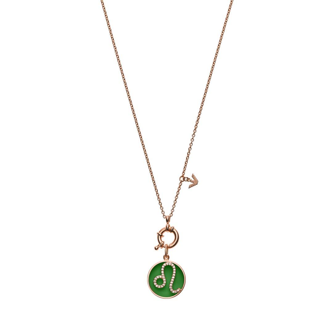 Emporio Armani Emporio Armani Women&Apos;S Leo Rose Gold-Tone Sterling Silver Pendant Necklace Eg3406221 Jewelry - EG3406221-WSI