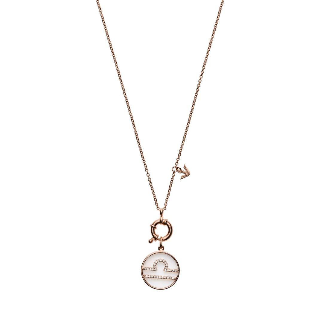 Emporio Armani Emporio Armani Women&Apos;S Libra Rose Gold-Tone Sterling Silver Pendant Necklace Eg3408221 Jewelry - EG3408221-WSI