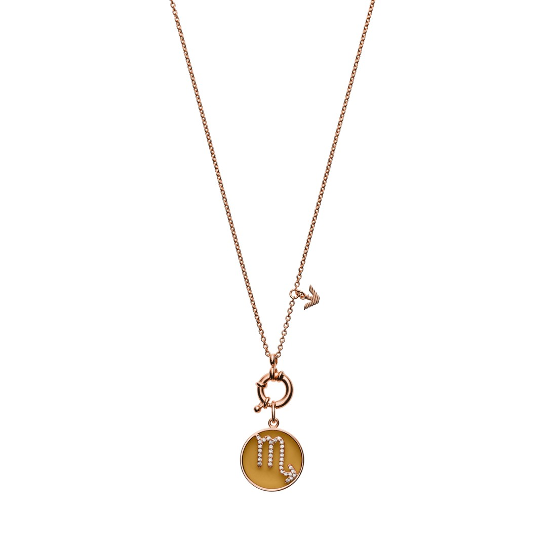 Emporio Armani Emporio Armani Women&Apos;S Scorpio Rose Gold-Tone Sterling Silver Pendant Necklace Eg3409221 Jewelry - EG3409221-WSI