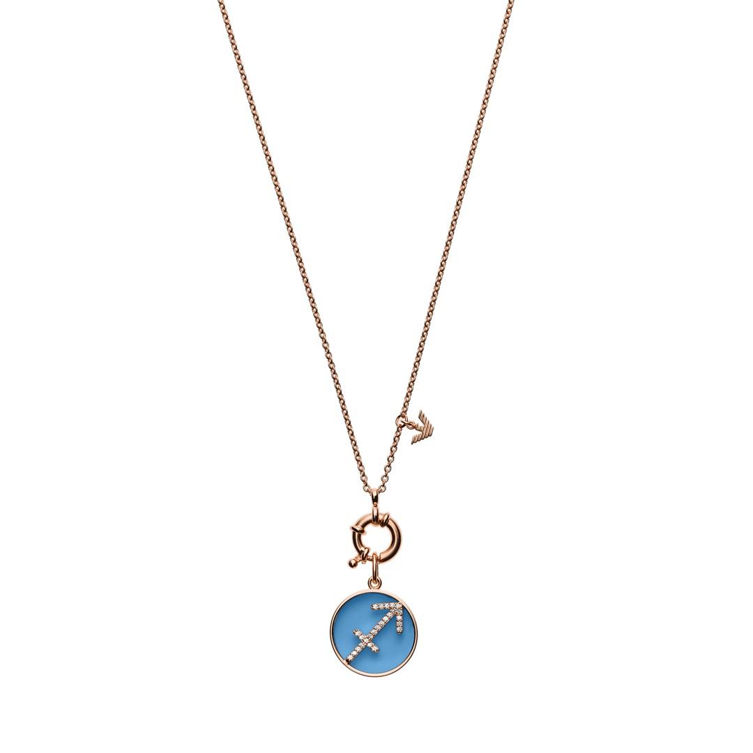 Emporio Armani Emporio Armani Women&Apos;S Saggitarius Rose Gold-Tone Sterling Silver Pendant Necklace Eg3410221 Jewelry - EG3410221-WSI