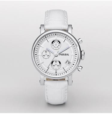 Fossil ES2202 Chronograph Silver Dial
