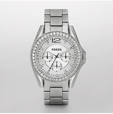 Fossil ES2203, Multifunction Silver Dial