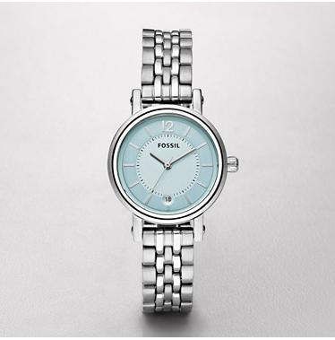 Fossil ES2288 Mini Boyfriend Light Blue Dial