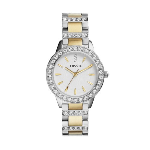 fossil Analog White Dial Watch ES2409