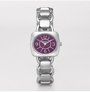 Fossil ES2539, Analog Purple Dial