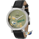 Fossil Analog Green Dial Watch
