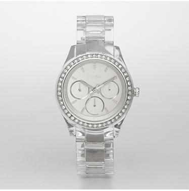 Fossil ES2608 Clear Stella White Dial