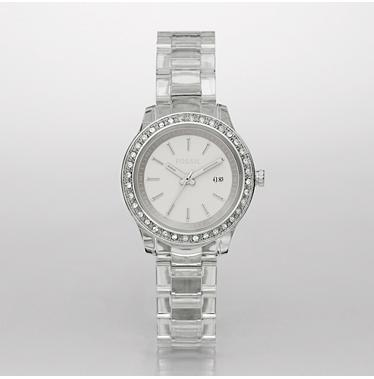 Fossil ES2612 Clear Stella White Analog Dial