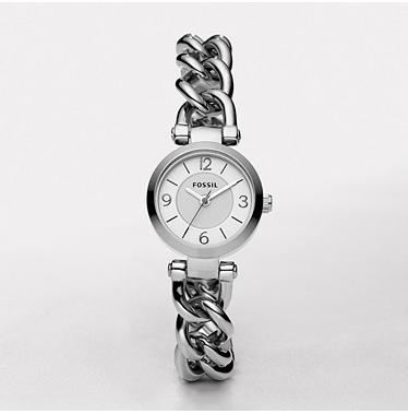Fossil ES2649, Analog Silver Dial