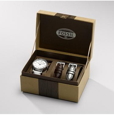 Fossil ES2709, Limited Edition - Silver Dial Box Set