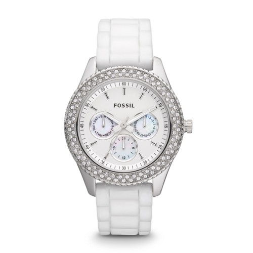 Fossil Stella Multifunction Silicone Watch - White - ES3001