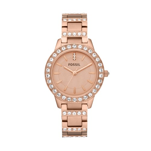 fossil Jesse Rose-Tone Stainless Steel Watch ES3020